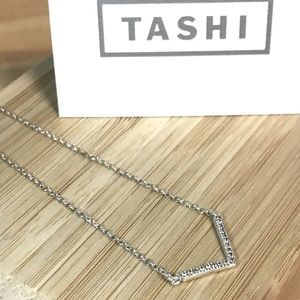 TASHI Chevron Cubic Zirconia 925 Silver Necklace